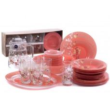 Сервиз столовый Luminarc Japanese Pink 46 пр. Q0929