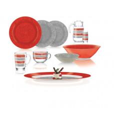 Сервиз столовый Luminarc AMB Stony Red&Grey 46 пр. Q4731