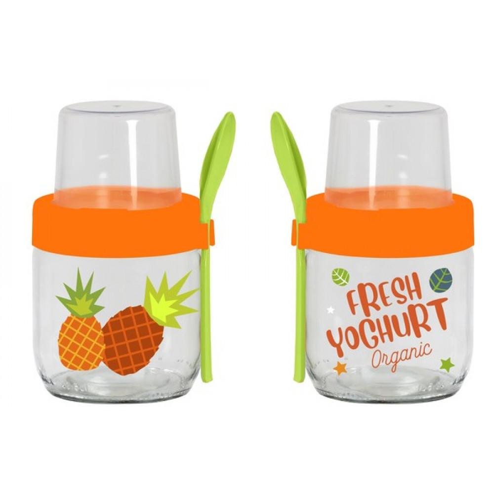 Банка-контейнер с ложкой HEREVIN Fruit-Yoghurt 425мл 131614-001