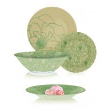 Сервиз столовый Luminarc Big Flower Green 46пр. Q4856