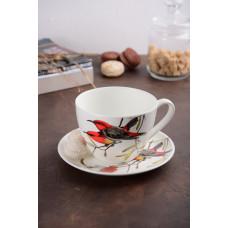 Большая чашка с блюдцем Limited Edition Bird 550мл YF6009