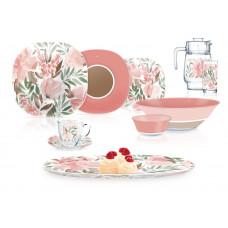 Сервиз столовый Luminarc Neo Carine Flowerpad Rose 46 пр. Q5866