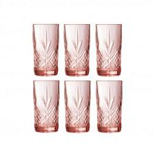 Набор стаканов Luminarc Salzburg Pink 380мл-6шт P9166