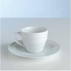 Чашка для кофе с блюдцем (0,1 л) фарфор Hotel