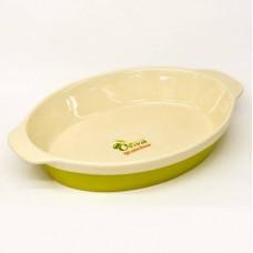 Овальная форма для выпечки Natura Oliva Green Ceramica Granchio