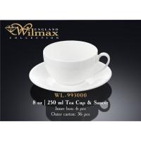 Чашка чайная&блюдце Wilmax 250 мл WL-993000