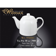 Чайник заварочный Wilmax 900 мл WL-994007/1C