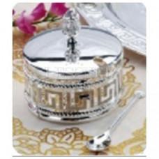 Сахарница с ложкой 9х9x9,7 см Lessner Silver Collection 99126