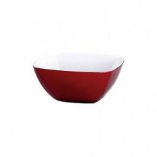 Маленький квадратный салатник VIENNA 0,3 л (Прозрачно-красныйБелый)
