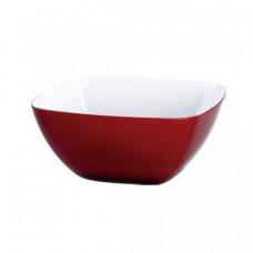Квадратный салатник Emsa VIENNA 2 л (Прозрачно-красныйБелый)