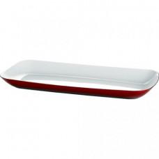 Прямоугольный сервировочный поднос Emsa VIENNA 38 х 17см (БелыйКрасный)
