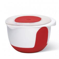 Миска для смешивания Emsa MIX & BAKE 2 л (Белая/красная)