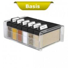 Емкость для специй Emsa SPICE BOX на 6 отделений (Чёрная)