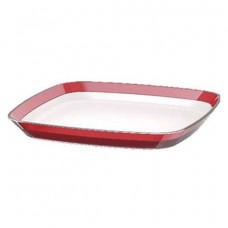 Квадратная тарелка Emsa VENICE 24 х 24 см (Белая-Красная)