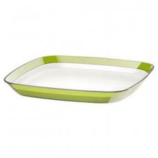 Квадратная тарелка Emsa VENICE 24 х 24см (БелаяСветло-зелёная)