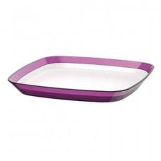 Квадратная тарелка Emsa VENICE 24 х 24 см (Белая-Черничная)