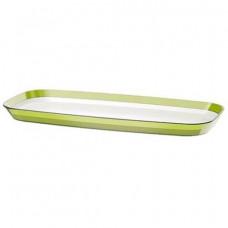 Прямоугольное сервировочное блюдо Emsa VENICE 38 х 17 см (БелоеСветло-зелёное)