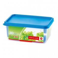 Прямоугольный пищевой контейнер Emsa SNAP&CLOSE 2,2 л