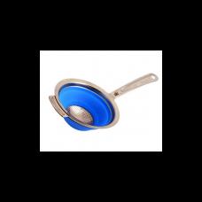Дуршлаг складной с ручкой синий STAHLBERG d10см