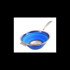 Дуршлаг складной с ручкой синий STAHLBERG d20см