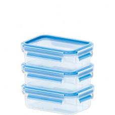 Набор из 3х контейнеров Emsa CLIP&CLOSE 3D 0,55л
