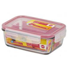 Пищевой прямоугольный стеклянный контейнер Emsa CLIP&CLOSE 1,3л