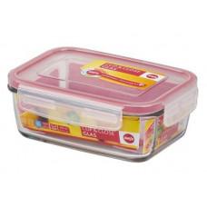 Пищевой прямоугольный стеклянный контейнер Emsa CLIP&CLOSE 0,39л