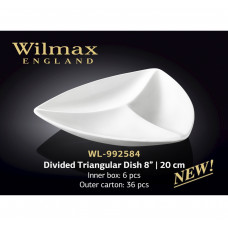 Менажница треугольная Wilmax 20 см WL-992584