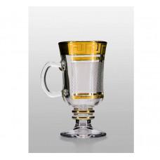 Набор бокалов для глинтвейна Bohemia Venezia (костка каро золото) 250 мл- 4 шт