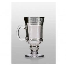 Набор бокалов для глинтвейна Bohemia Venezia (костка каро платина) 250 мл- 4 шт