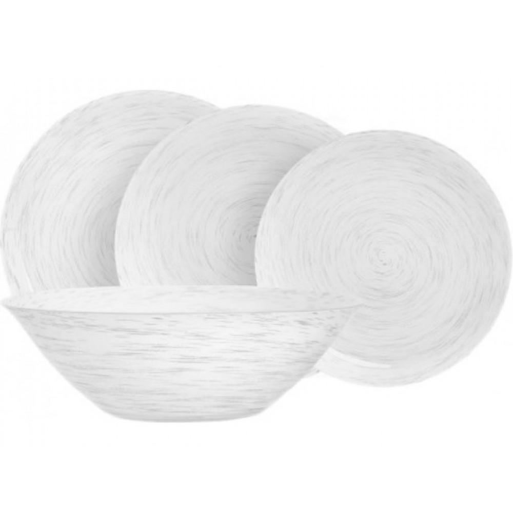 Тарелка обеденная Luminarc Stonemania White 25см H3541