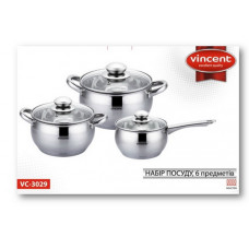 Набор посуды Vincent 6 пр. VC-3029