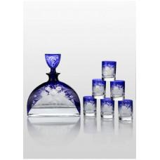 Набор для водки Bohemia Prestige Nemo Cobalt 7пр.
