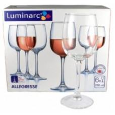 Набор бокалов для вина LUMINARC ALLEGRESSE 230мл