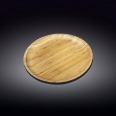 Тарелка бамбуковая Wilmax Bamboo 25,5 см WL-771034