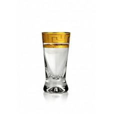 Стопки для водки Bohemia Status Kostka золото 60мл - 6шт