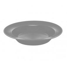 Тарелка глубокая круглая серая Ipec ATENA 23 см