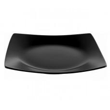 Тарелка обеденная квадратная черная Ipec LONDON 25х25 см
