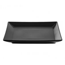 Тарелка десертная квадратная черная Ipec Tokyo 21х21 см