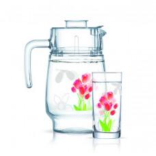 Набор для воды Luminarc Amsterdam Tulips 7пр N0961