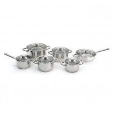 Набор посуды со стеклянными крышками BergHoff Vision Premium 12пр. 1112100