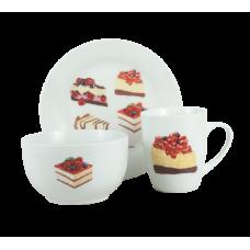 Сервиз для завтрака Limited Edition Sweet Cake 3пр. HYT17152