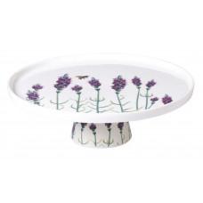 Ваза для торта круглая Astera Lavander 28,5х8,5см Color в подарочной упаковке A05143-S2-19
