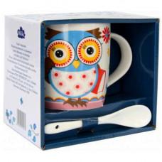 Кружка с ложкой Milika Owl Professor 350мл Color M0520-NM-12-A