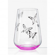 Набор стаканов Bohemia Butterfly 380мл 6шт 23013 380S S1432