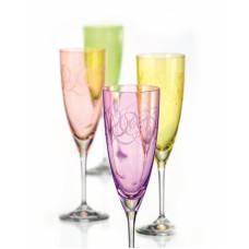Набор бокалов для шампанского Bohemia Fantasy 220мл-4шт 40796 220S Q8794
