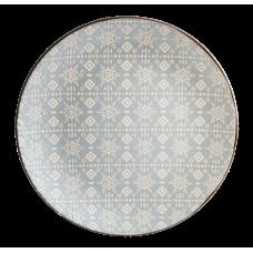 Тарелка десертная Astera Engrave Grey 19см A0470-HP23-S