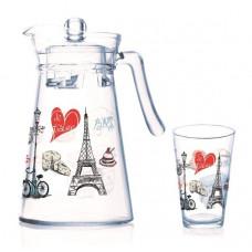 Набор для напитков LUMINARC NEO LOVE PARIS FLORERO 7пр. P9813