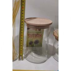Банка для сыпучих Simax с деревянной крышкой Ø96х145мм Color s5152/LW