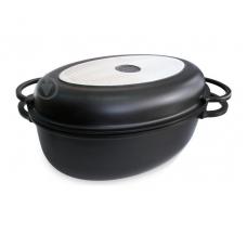 Гусятница с крышкой-сковородой Lessner Black Pro New 8,6л 55874
